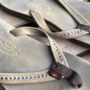 RAINBOW women's Swarovski sandals size M 6.5-7.5